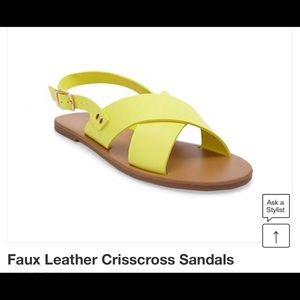 Forever21 Faux Leather Crisscross Sandal